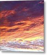 Sky On Fire Metal Print by Les Cunliffe