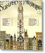 Sky Scrapers Of Philadelphia 1896 Metal Print