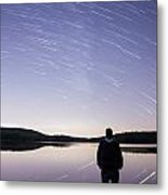 Sky Trails Metal Print