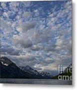 Sky Water Mountains Metal Print