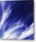 Sky Wisps Blue Metal Print
