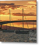 Skye Bridge Sunset Metal Print