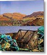Skye Fishing Pots Metal Print