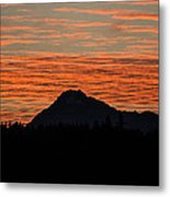 Skyfire Over The Olympic Mountains Metal Print