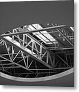 Skylight Gurders In Black And White Metal Print