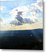 Skyline Drive Sunrays Metal Print by Candice Trimble
