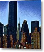 Skyline From Roosevelt Island Metal Print