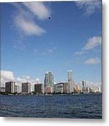Skyline Miami Metal Print