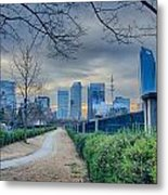 Skyline Of A Big City In South - Charlotte Nc Metal Print