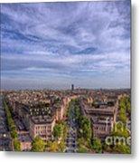 Skyline Of Paris Metal Print