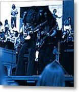 Skynyrd #5 Crop 1 In Blue Metal Print