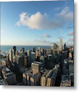 Skyscrapers In A City, Chicago, Cook Metal Print