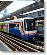 Skytrain Carriage Metro Railway At Nana Station Bangkok Thailand Metal Print
