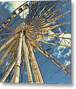 Skywheel At Niagara View Metal Print