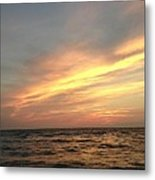 Slanted Setting Metal Print