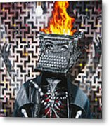 Slaves Of Technology Metal Print by Larry Butterworth