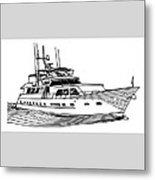 Sleek Motoryacht Metal Print