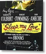 Sleep, My Love, Us Poster, Bottom Metal Print