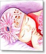 Sleeping Baby Metal Print by Irina Sztukowski