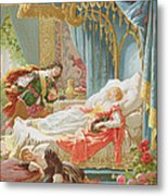 Sleeping Beauty And Prince Charming Metal Print