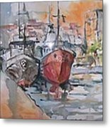Sleeping Boats Metal Print