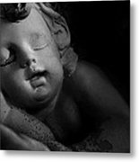 Sleeping Cherub #1bw Metal Print
