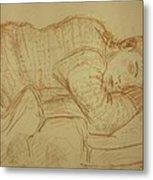Sleeping Figure Metal Print