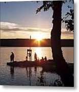 Sleeping Giant Sunset Metal Print