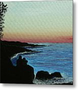 Sleepy Blue Ocean Metal Print