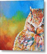 Sleepy Contemplation Metal Print by Arie Van der Wijst