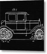 Sleigh Attachment For Motor Vehicles Support Patent Drawing From 1926 2 Metal Print