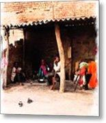 Slice Of Life Mud Oven Chulha Tandoor Indian Village Rajasthani 1b Metal Print