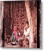 Slice Of Life Mud Oven Chulha Tandoor Indian Village Rajasthani 1c Metal Print