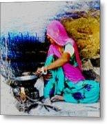 Slice Of Life Mud Oven Chulha Tandoor Indian Village Rajasthani 2 Metal Print