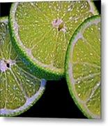 Sliced Limes Metal Print