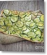 Sliced Pizza With Zucchini Metal Print
