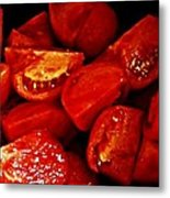 Sliced Tomatoes Metal Print