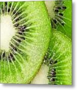 Slices Of Juicy Kiwi Fruit Metal Print