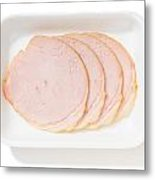 Slices Of Roll Ham With Rind Metal Print