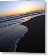 Sliding Down - Sunset Beach California Metal Print