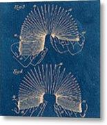 Slinky Toy Blueprint Metal Print