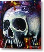 Sloppy Skull Metal Print