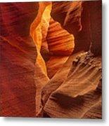 Slot Canyon Detail Corkscrew Or Upper Antelope Slot Canyon Arizona Metal Print