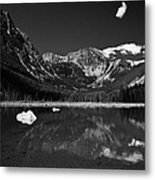 Slough Lake 3 Bw Metal Print by Roger Snyder
