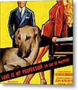Sloughi Art - Love Is My Profession Movie Poster Metal Print