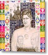 Slovak Grandmother Metal Print by Diana Perfect