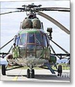 Slovakian Mi-17 With Digital Camouflage Metal Print