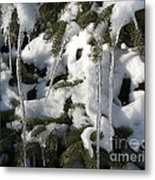 Slow Snow Melt Metal Print