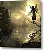 Slumber Fairies Metal Print