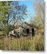 Small Abandoned Shed Metal Print